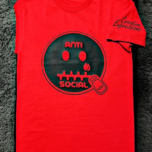 Anti 🤐 Social CE Red & Black