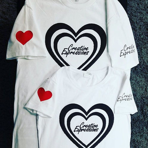 Creative Expressions #Vday❤ T-Shirts White & Black🖤 Women