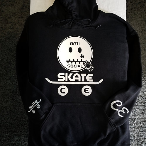 AntiSocial Skate CE 🛹 Hoodie Balck and Reflector