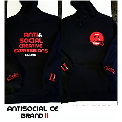 Anti 🤐 Social CE II Black and Red