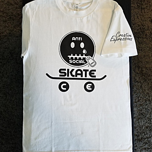 AntiSocial Skate CE 🛹 White and Black