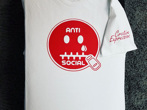 Anti 🤐 Social CE White and Red 🍬