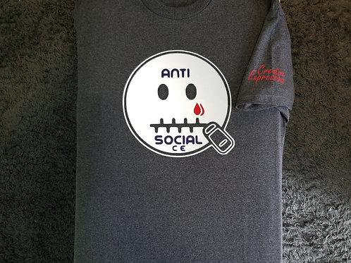 Anti 🤐 Social CE Dark Grey , Reflector, Purple
