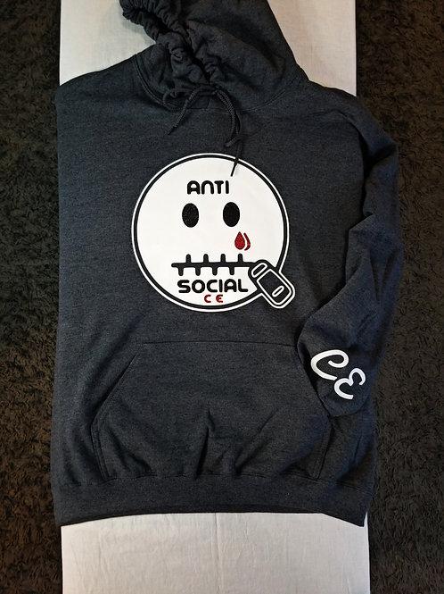 Anti 🤐 Social CE Dark Grey, White, Black Glit