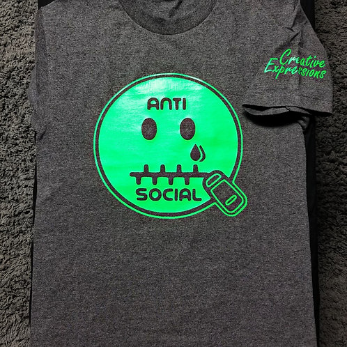 Anti 🤐 Social CE #Hulk Dark Grey & Neon Green