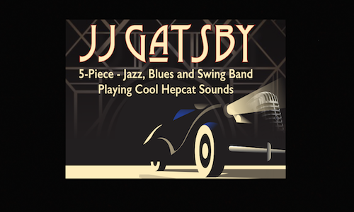 I also play in a local band.....JJ Gatsby - A professional and stylish Bristol Band available for weddings and functions. Vintage style upbeat music (Jazz, Swing & Post Modern Styles). Songs such as Why Don't You Do Right, Toxic, Stray Cat Strut, 7 Nation Army, Back to Black, Feeling Good, Hit The Road Jack and many more (Perfect for all ages). Email us for a quote
