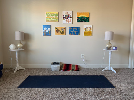 Creating a Home Yoga/Workout Space