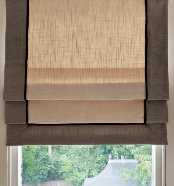 Roman Blind mounted on window frame