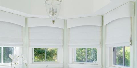 Roman Blinds with palmet.