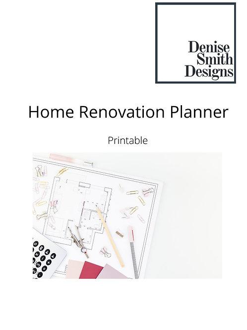 Free Printable Renovation Planner