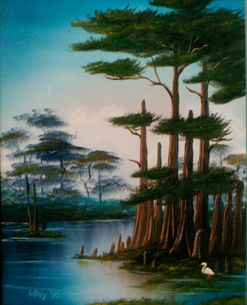 Cypress Swamp Bob Ross Painting Class