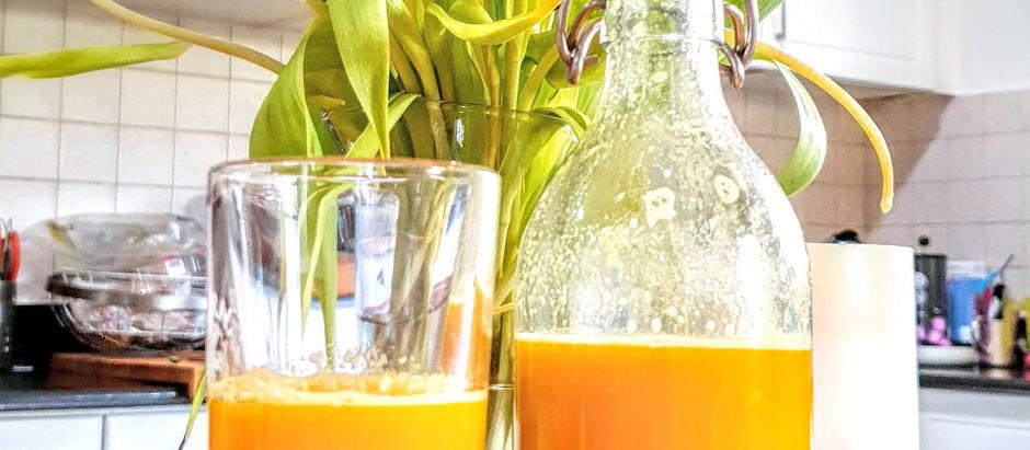 Powerful Ginger Turmeric Orange Shot