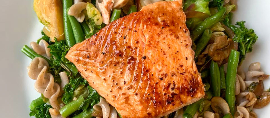 Asian Inspired Pan-fried Salmon