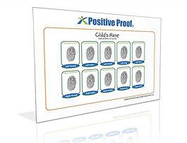 10 Fingerprint Card. A complete set of fingerprints