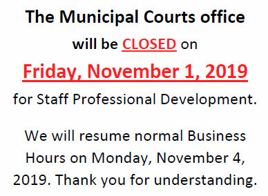 Court Office Closed 11/1/2019