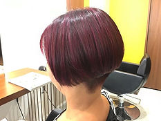 ura satsuki SHORT HAIR SINGAPORE HAIR CUT VIOLET PINK DARK
