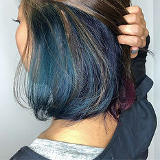 urakami satsuki kana JAPANESE HAIR SALON SINGAPORE HAIR CUT COLOR bob blue green crazy color