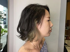urakami satsuki JAPANESE HAIR SALON SINGAPORE HAIR CUT COLOR bob inner color ash silver