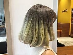 urakami satsuki JAPANESE HAIR SALON SINGAPORE HAIR CUT COLOR bob ash yellow bleach