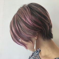 ura satsuki kana SHORT HAIR SINGAPORE HAIR CUT PINK VIOLET COLOR
