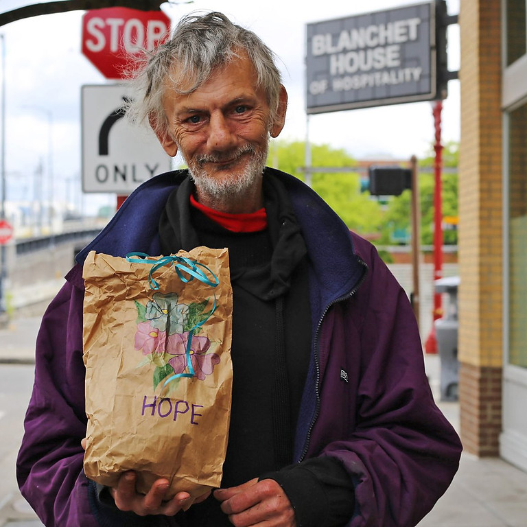 11:30am: Decorate & Assemble Sack Lunches for the Homeless