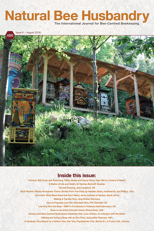 Natural Bee Husbandry Issue 8 - Back copy