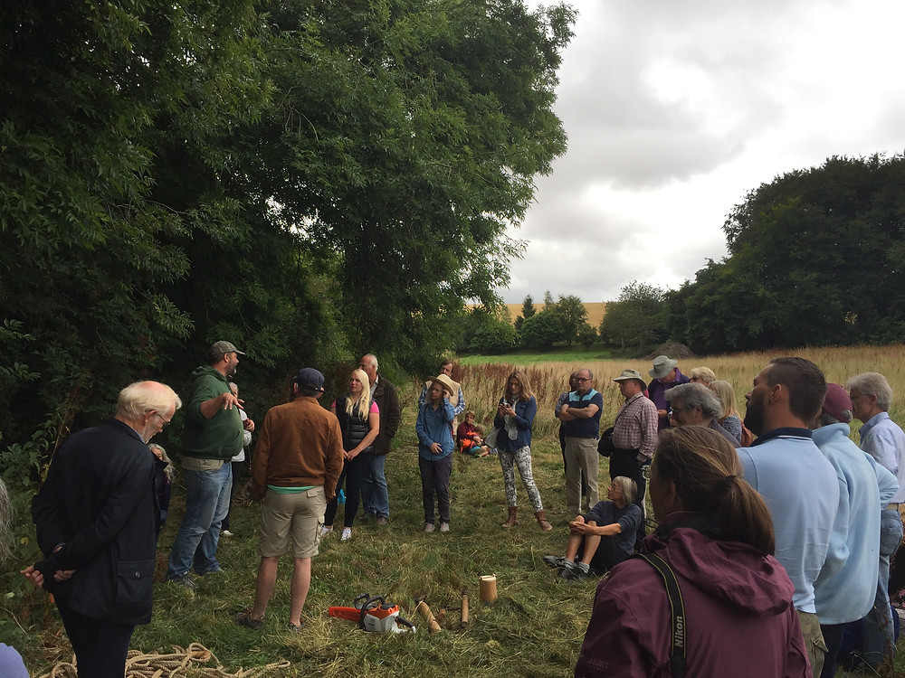 Wildlife expert Nick Adams describes how thetree hive is integral to the farm
