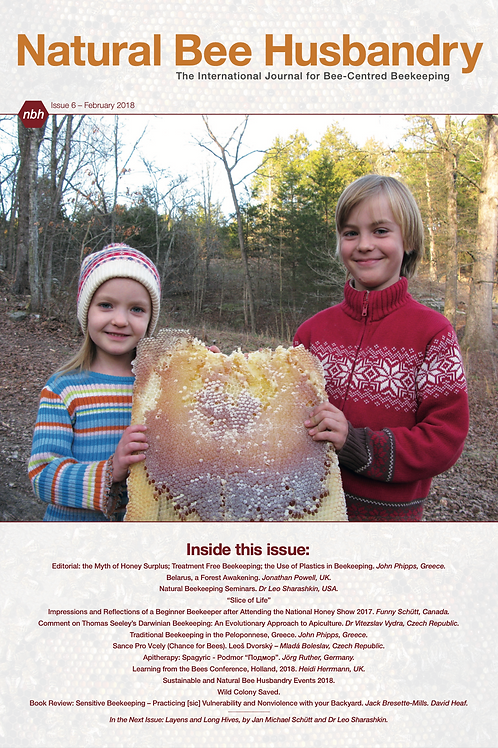 Natural Bee Husbandry Issue 6 - Back copy