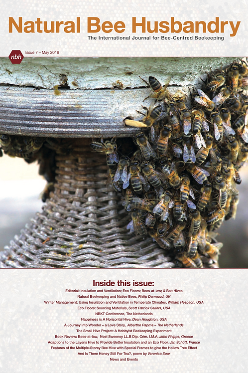 Natural Bee Husbandry Issue 7 - Back copy