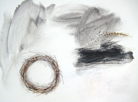 winterdrawing_solstice. acrylic and past