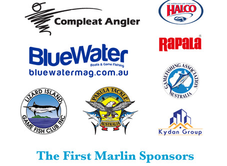 Sponsors come on board to support our Clubs game fishing history
