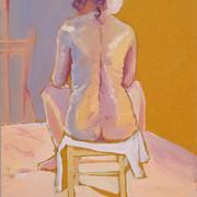 Rückenakt in Pastell