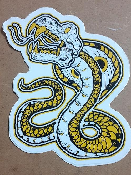 Baboon skilled snake sticker