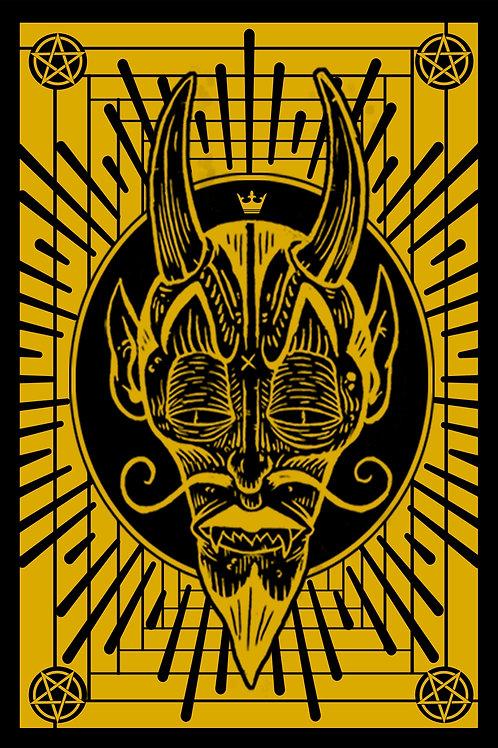 """devil screenprint 12"""" x 18"""""""