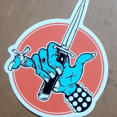Shaka punk sticker
