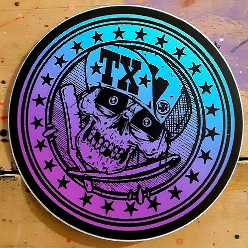 Tx flipbill sticker