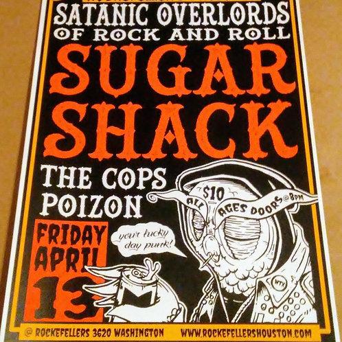 "sugar shack 18"" x 24"" screen print"