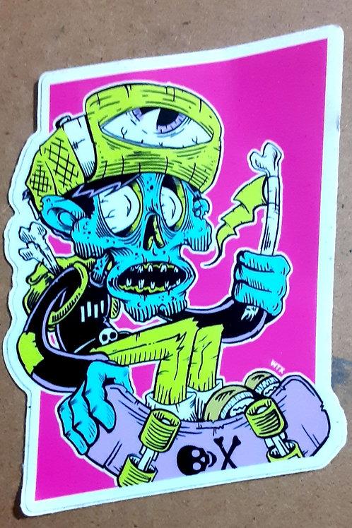 Skater corpse sticker
