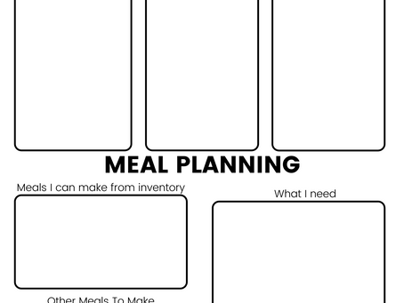 3 FREE Printables I Use To Meal Plan