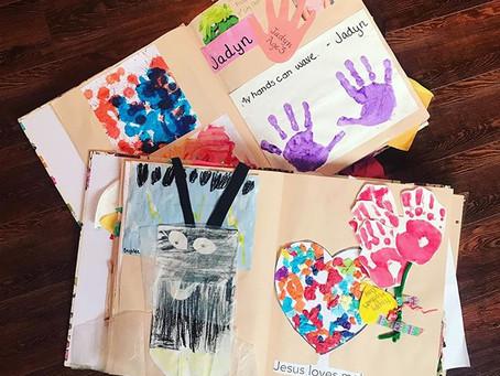 Kids' School Work Scrapbooks