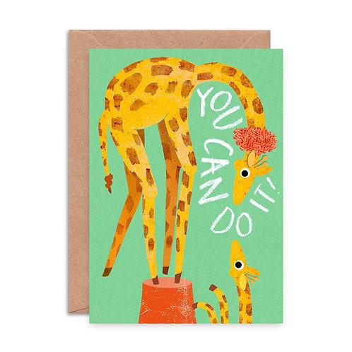 You Can Do It Giraffe Greeting Card