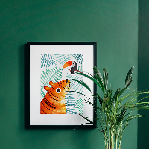 Tiger & Toucan Recycled A4 Art Print