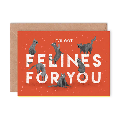 Felines For You Greetings Card