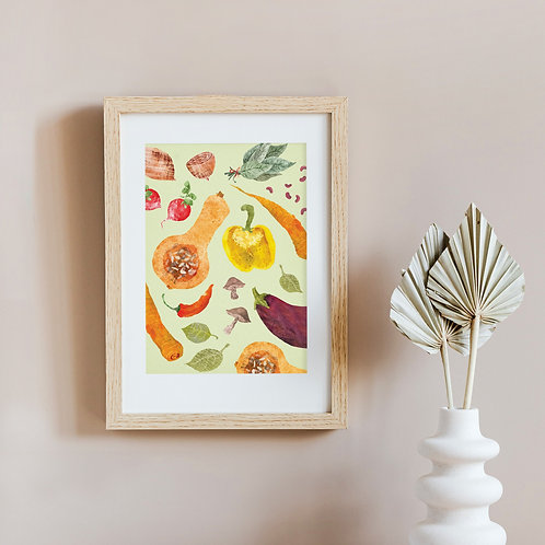 Vegetable A4 Art Print