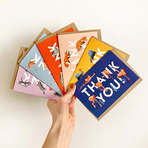Thank You Cards - Bundle of Six