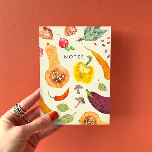 A6 Vegetable Pattern Notebook