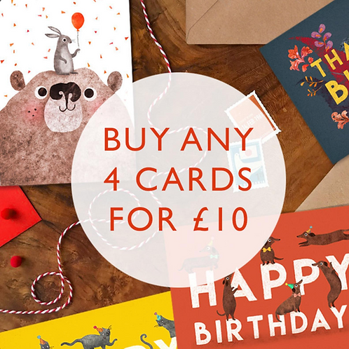Mix & Match Card Bundle- Any 4 for £10