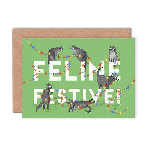Feline Festive Christmas Card