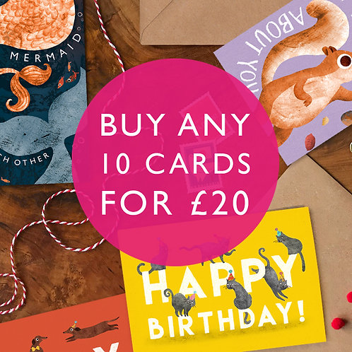 Match Card Bundle- Any 10 for £20