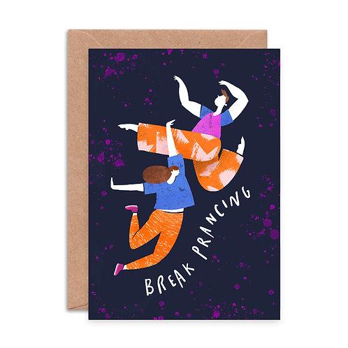 Break Prancing Greeting Card